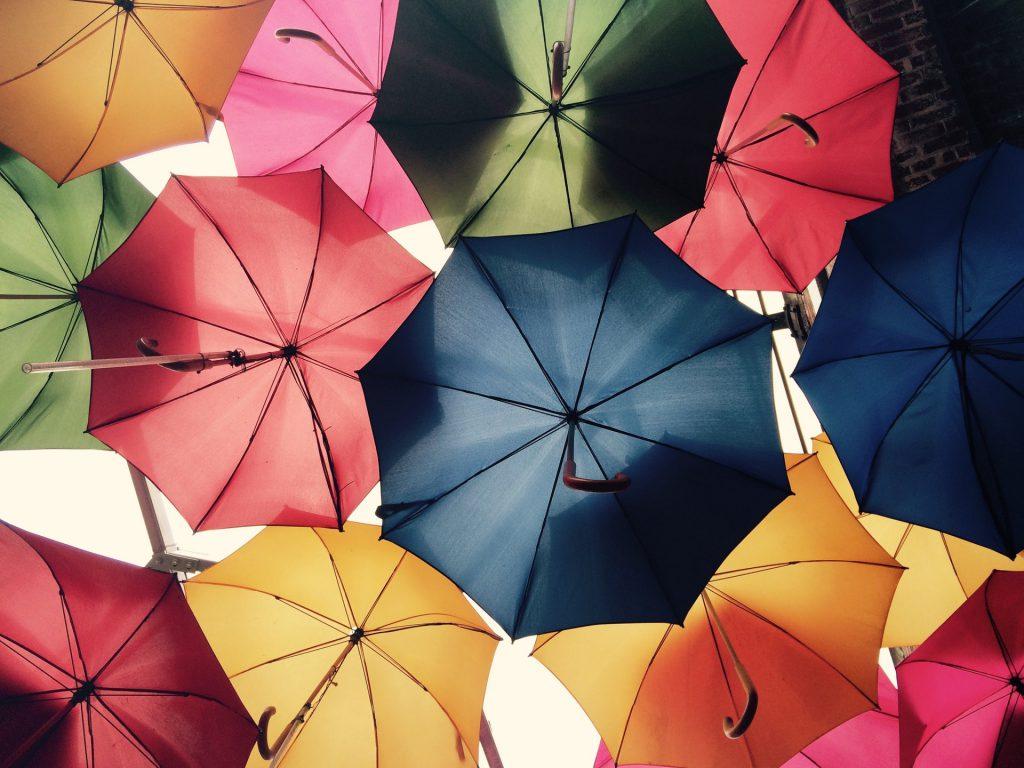 regenwater paraplu